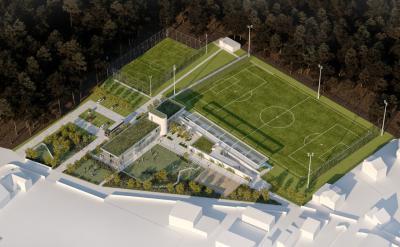 Budynek świetlicy sportowej wraz z zagospodarowaniem terenów sportowo-rekreacyjnych w Żabieńcu k. Piaseczna