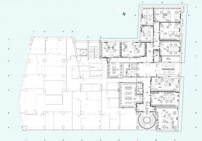 Budynek biurowo-administracyjny przy Jagiellońskiej w Warszawie_przebudowa wnętrz fragmentu IV piętra