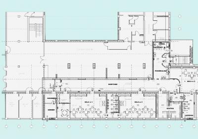 Budynek szkolny LXVIII LO przy A.Krzywoń w Warszawie - adaptacja fragmentu parteru na przedszkole