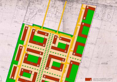 Osiedle mieszkaniowe przy Szeligowskiej w Warszawie- koncepcja urbanistyczna